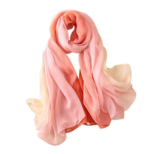 Copricostumi e parei per costume da bagno sciarpe donna estive grande in chiffon gradiente scialle foulard pashmina wrap bohemien hippie sarong per spiaggia bikini cover up swimsuit beachwear