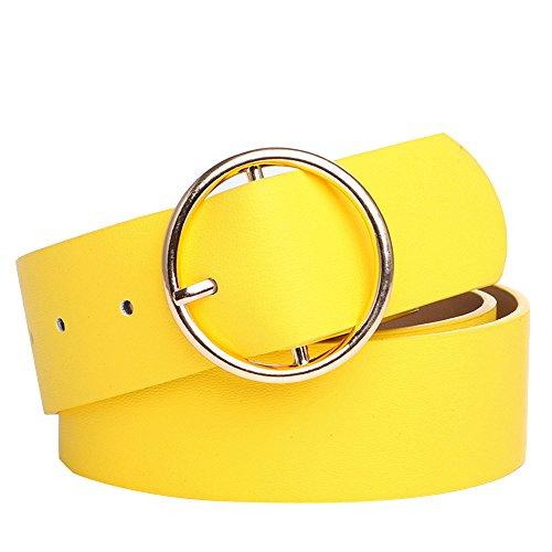 Cinturón amarillo de fiesta para mujer