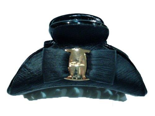 rougecaramel - Accessoires cheveux - Pince cheveux noeud petit modèle - noir