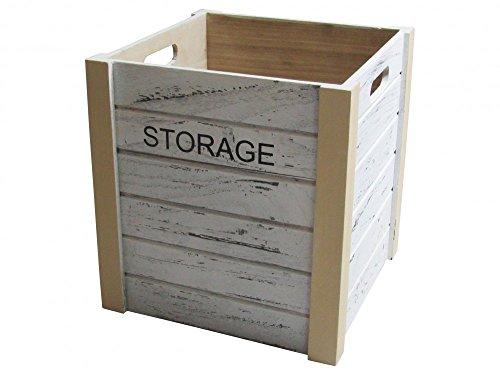 Locker Storage-Kiste aus Holz Quadratisch in Weiß - groß (Storage Locker)