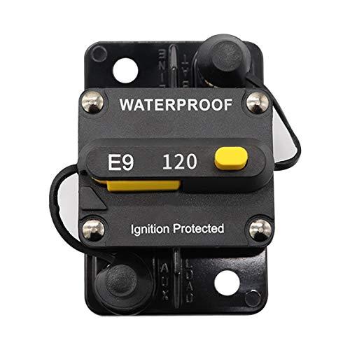 GreatFun Wasserdichter, schaltbarer Leistungsschalter zur Aufbaumontage mit manueller Rückstellung 70A Nennspannung 12-48 VDC Leistungsschalter mit manueller Rückstellung -