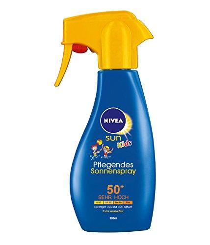 Nivea Sun Kids Pflegendes Sonnenspray LSF 50+, 1er Pack (1 x 300 ml)