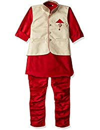 AJ Dezines Kids Ethnic Wear Kurta Pyjama Waistcoat Set for Boys