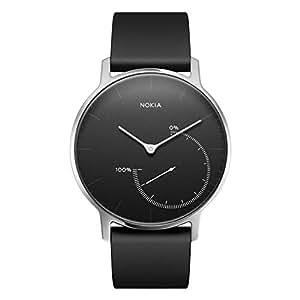 Withings Nokia Steel-Montre Connectée-Suivi D'activité et de Sommeil Mixte, Noir, Medium
