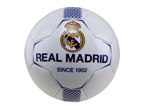 Balón Fútbol Oficial Real Madrid Blanco y azul RM7GB1