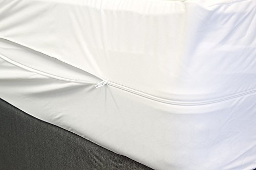 The Bettersleep Company vollständig wasserdicht antibakteriell Anti-Wanzen Matratzenschoner mit Reißverschluss eingefasst closure-pillow Protektoren separat erhältlich, weiß, Pillow Protector Pair (Matratze-abdeckung Mit Reißverschluss)