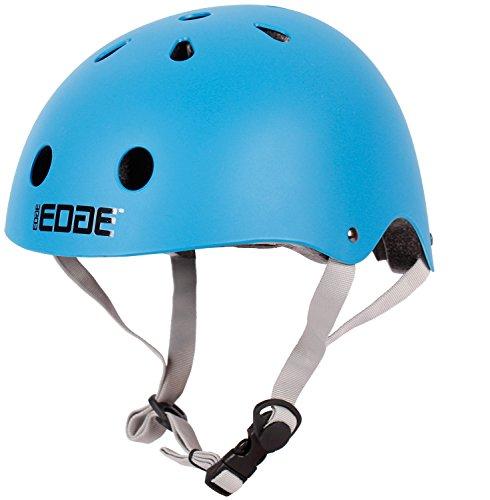 Edge Kinder Fahrradhelm/BMX - Helm in 4 Farben Größe M (55-57cm) (Blau)