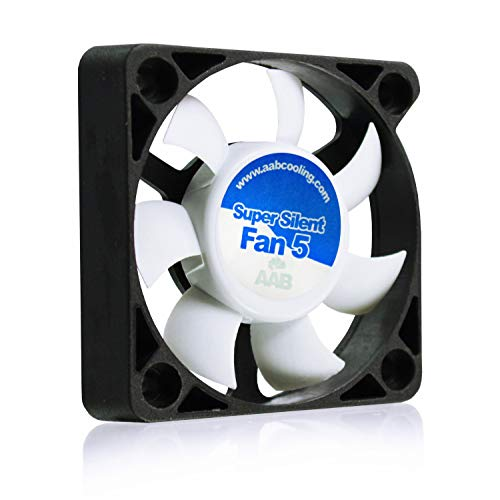 AAB Cooling Super Silent Fan 5 - Leise und Efizient 50mm Gehäuselüfter mit 4 Anti-Vibration-Pads - Mini Ventilator | 3D Drucker | Lüfter 50mm | Cooling Fan | PC Fan