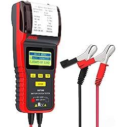 ANCEL BST500 12 V / 24 V 100-2000 CCA Automotive Batterietester Fahrzeugdiagnose und Ladefähigkeit der Lichtmaschine Analyzer Tool mit Drucker auch für leichte Lkw, Autos, Motorräder und mehr