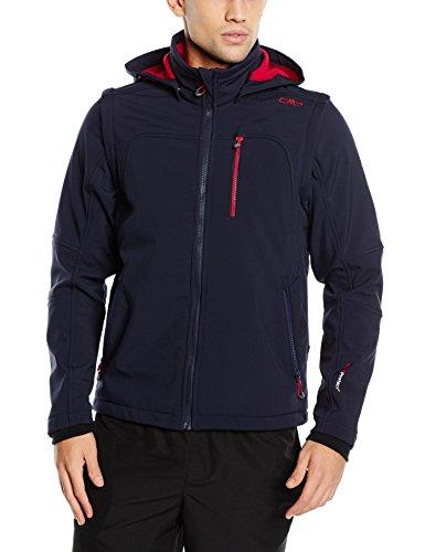 CMP - F.lli Campagnolo giacca da uomo Softshell, B.Blue-Ferrari, 60, 3A74427N