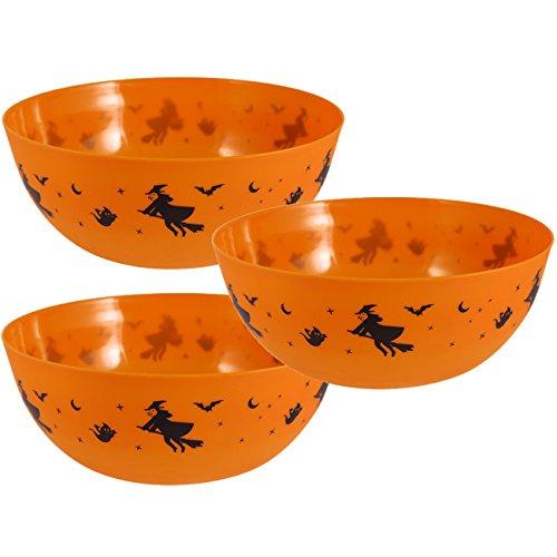 3 Halloweenschüsseln 24cm Schüssel für Halloween -