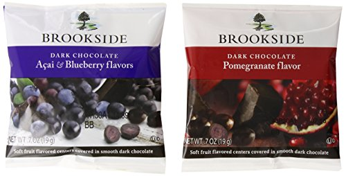 Brookside Chocolates, Dark Chocolate Acai Blueberry and Pomegranate, 0.8 Oz, 30 Count by Brookside [Foods]