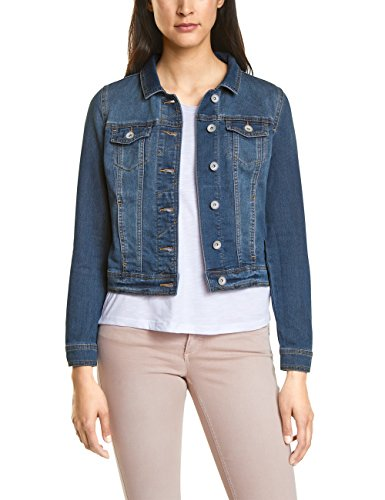 Street One Damen Jeansjacke 210702, Blau (Authentic Mid Blue Wash 11414), 42