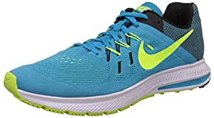 Nike Mens Zoom Winflo 2 Blue Lagoon,Volt,Blk,Wht,Noir,Blnc Running Shoe Size Uk 7
