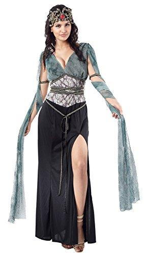 Ladies Sexy Dark Medusa Greek Mythology Goddess Monster Gorgon Fancy Dress Costume Outfit 10-12-14 (UK 10-14)