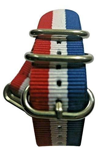Cinturino per orologio da polso, 20 mm, in nylon Zulu