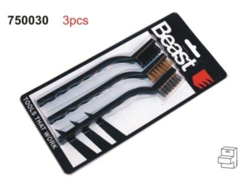 Z373 3 x Mini Bürstensatz en laiton 40 mm fil Nylon G1