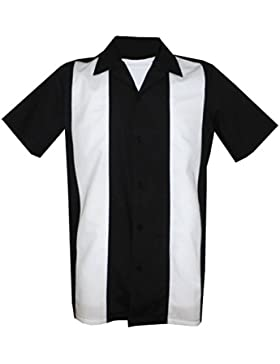1950/1960 Rockabilly, bowling, danza, camicia mens epoca