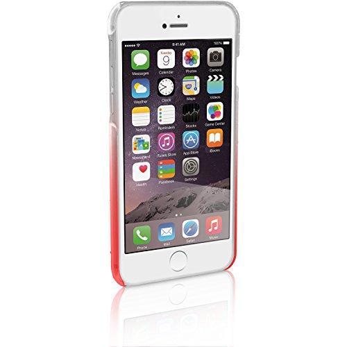 igadgitz Pink / Klar Regentropfen Hartplastik Etui Tasche Schutzhülle für Apple iPhone 6 & 6S 4,7 Zoll Ultradünne Case Cover + Displayschutzfolie Rot