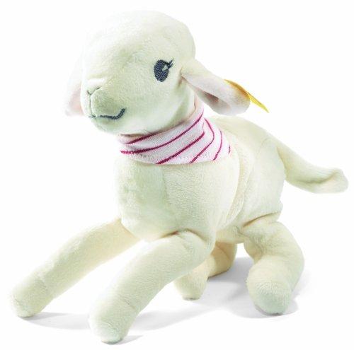 Steiff 238734 - Leni Lämmchen, 18 cm, weiß/rosa