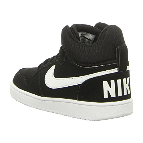 Nike Wmns Court Borough Mid, Chaussures de Sport-Basketball Femme Noir