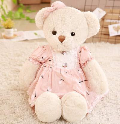 HULIN Little Bear Doll Doll Girl Plush Toy Cute Hug Bear Girl Princess Teddy Panda Doll 40Cm1Pcs Flower Skirt (Bear Teddy Flower Girl)