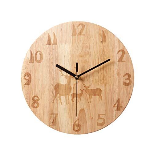 ZHAS Reloj Pared Diseño números arábigos Rústico