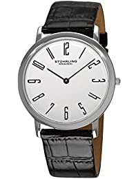Stuhrling Original Men's 216A.33153 Classic Ascot Belmont Swiss Quartz Slim White Dial Watch