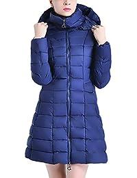 09e1638321379 Abrigo Acolchado Mujer Elegantes Color Sólido Encapuchado Abrigos Invierno  Otoño Invierno Casual Manga Modernas Casual Larga
