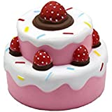 Squeezing Strawberry Cake Slow Rising Squeeze Toys Mini Squeeze Stress Relief Toys For Kids And Adults(Pattern 1)