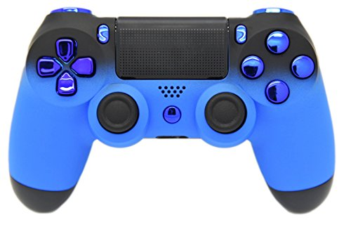 Blau & Schwarz Verblasst Soft Touch Custom PS4 Controller, Exklusives Design, un-modded - Custom-ps4-controller