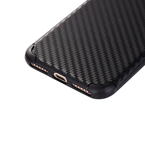 """iPhone 7Plus Hüllen, iPhone 7Plus Premium Softcase, CLTPY Ultradünn Air Cushion Stoßfest Schutz Fall, Luxus Camo Motiv Stoßfest Handytasche für 5.5"""" Apple iPhone 7Plus (Nicht iPhone 7) + 1 x Stift - S Schwarz"""