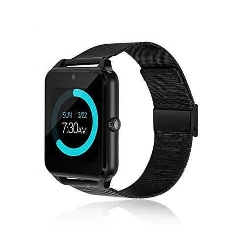 generisch 2019 PromoTech Z60 Sport Smartwatch mit Bluetooth 3.0 + 1.54 inch Touchscreen + Kamera + GSM/GPRS SIM-Karte. Für Android und iOS. (Schwarz)