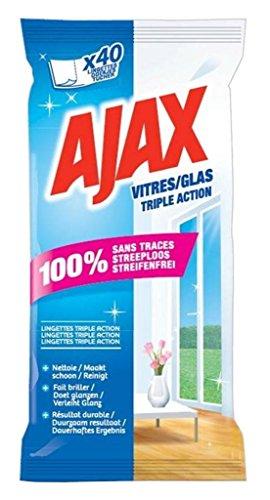 Ajax wischt Fenster 40 Triple Action (Satz von 6 oder 240 tücher) - Triple Action Tabletten