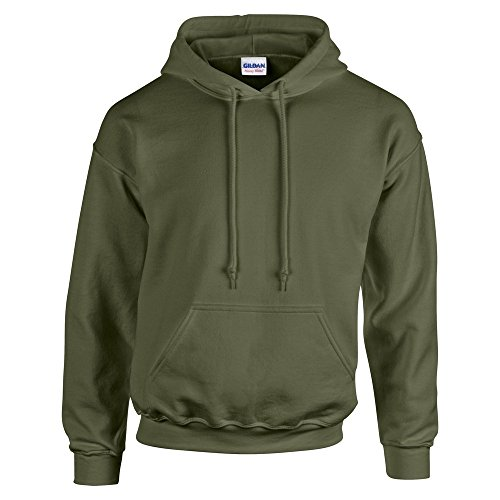 Gildan-HeavyBlend-hooded-sweatshirt-Military-Green-M