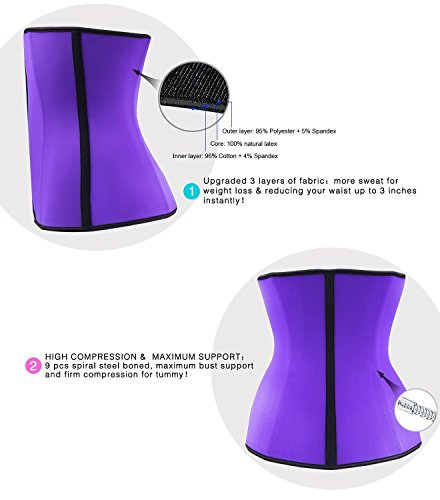 Yonbii Damen Taillenmieder violett violett Violett