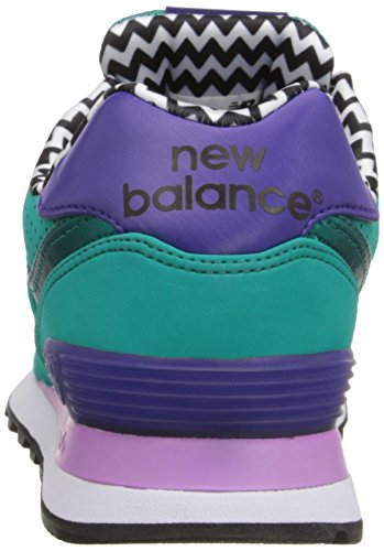 New Balance Women's WL574 Acrylic Pack Classic Running Shoe Green/Black