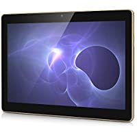 3G Tablet de 10.1 Pulgadas HD (WiFi, 2 GB de RAM, 32GB de Memoria Interna, Procesador Quad-Core, Android 6.0, Batería de 6000mAh, 1280 x 800 HD), MAD GIGA Android Tablet, Color Negro