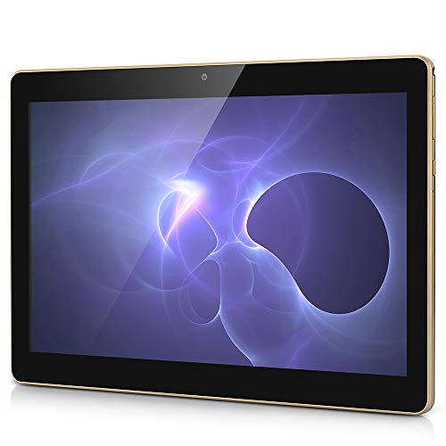 Android Tablet PC, 10.1 Zoll Bildschirm Tablet-PC mit Dual-SIM Karte, 2GB RAM, 32GB Speicher, 1280*800 Full HD IPS Touchscreen WiFi/ WLAN/ Bluetooth 4,0 (Schwarz)