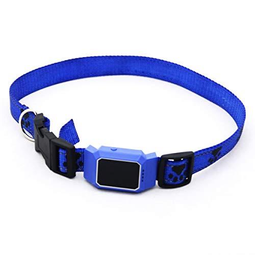 JohnJohnsen D35 Impermeable GPS gsm Rastreador Sistema de Mascotas para los Gatos Perros aplicación Gratuita para el Collar de Perro Gato móvil admiten trazador perdido Anti Inteligente Finder (Azul)