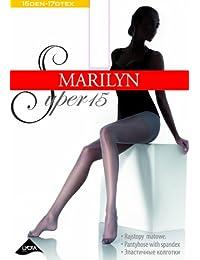 Marilyn klassische Strumpfhose, semi-matt, mit Baumwollzwickel und verstärkte Fussspitze, 15 Denier