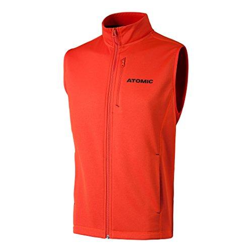 Atomic Herren Fleece-Weste mit Logo, Alps Fleece Vest, Polyester, Größe M, Hellrot, AP5037120