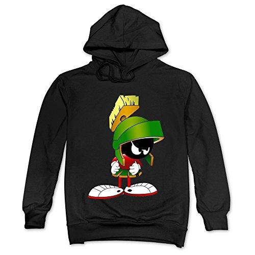 Tike Herren Marvin der Marsmensch Comic Film 2015Kapuze Sweatshirt, Herren, schwarz (Bunny Kapuzen-sweatshirt)