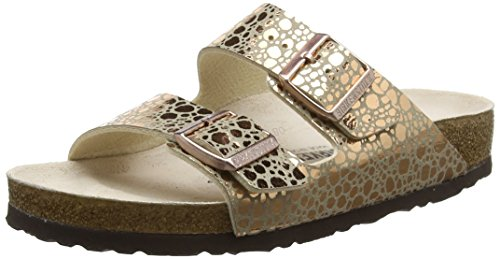 BIRKENSTOCK Damen Arizona Sandalen, Beige Metallic Stones Copper, 39 EU
