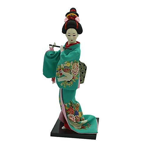 1/6 Vintage Kimono Japonés Geisha Doll Figura Vino