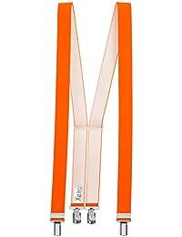 Xeira Bretelles de haute qualité avec 4 Clips fort de 35mm dans 15 Couleurs - EXTRA LONG - Fabriqué en Allemagne