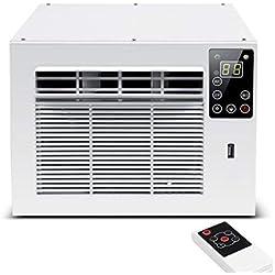 Window air conditioner Climatiseur De FenêTre, Climatiseur Compact, Climatiseur Smart Mosquito, Refroidissement Rapide, DéShumidification par Un Seul Bouton, avec TéLéCommande, Blanc