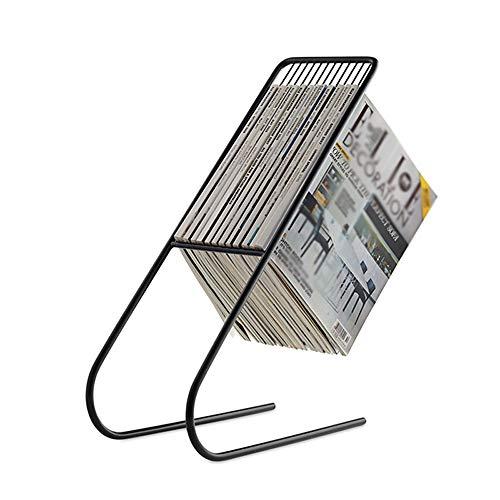 XING-ZI-bookshelf C-K-P Portariviste Portariviste Creativo in Ferro Battuto in Stile Nordico - Divano A Terra Accanto al Portariviste H: 50CM (Colore : Nero)