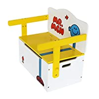 Mr Men - Childrens Kids 3in1 Wooden Convertible Toy Box+Bench & Table+Chair - by Kiddi Style