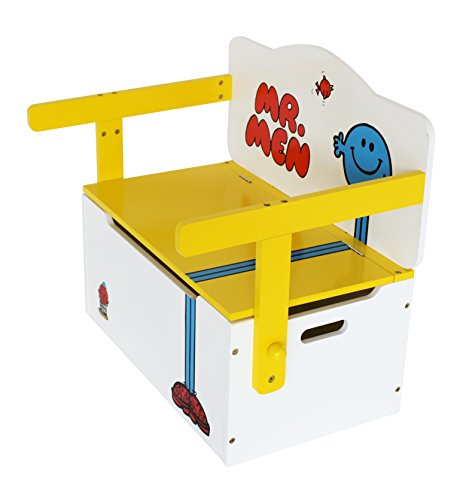 Mr Men - Childrens Kids 3in1 Wooden Convertible Toy Box+Bench & Table+Chair - by Kiddi Style Best Price and Cheapest